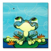 Trademark Fine Art Frog's Lunch by Sylvia Masek-Ready to hang Gallery Wrapped 14x14 Inches