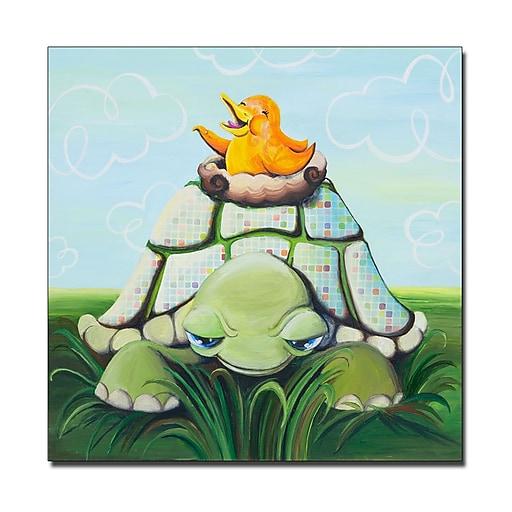 Trademark Fine Art Sylvia Masek 'Afternoon Seranade' Canvas Art 35x35 Inches