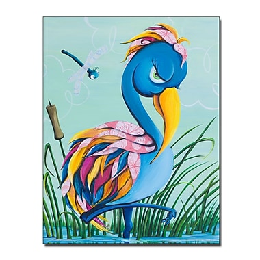 Trademark Fine Art Sylvia Masek 'Showbird' Canvas Art 14x19 Inches