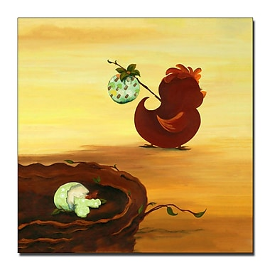 Trademark Fine Art Leaving the Nest by Sylvia Masek-Ready to Hang Canvas 35x35 Inches