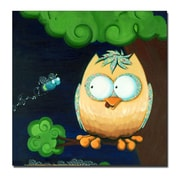 Trademark Fine Art Owl by Sylvia Masek-Ready to Hang Canvas 24x24 Inches