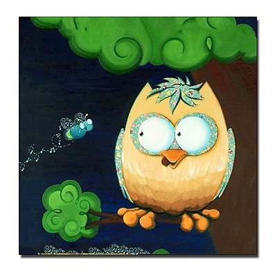 Trademark Fine Art Sylvia Masek 'Owl' Canvas Art 14x14 Inches