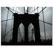 Trademark Fine Art Tammy Davison 'Brooklyn Bridge' Canvas Art