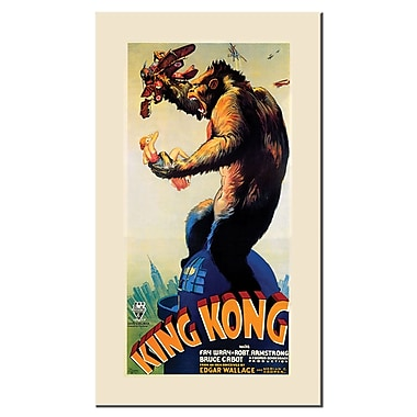 Trademark Fine Art 'King Kong' Canvas Art 12x24 Inches