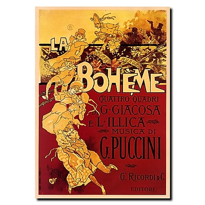 Trademark Fine Art Adolfo Hohenstein 'Boheme-Puccini' Gallery Wrapped Canvas