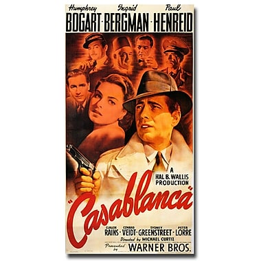 Trademark Fine Art 'Casablanca' Canvas Art 10x19 Inches