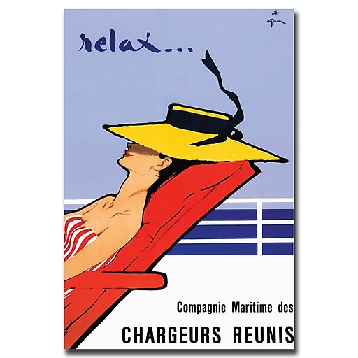 Trademark Fine Art Relax by Rene Gruau-Gallery Wrapped Canvas Art 24x32 Inches