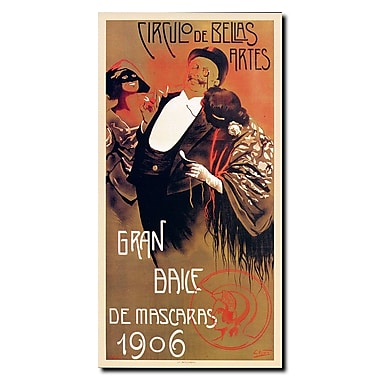 Trademark Fine Art Gran Baile de Mascaras' Gallery Wrapped Canvas Art