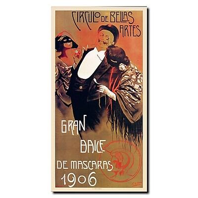 Trademark Fine Art Gran Baile de Mascaras' Gallery Wrapped Canvas Art