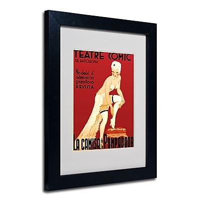 Trademark Fine Art 'Teatre Comic de Barcelona' Matted Art Black Frame 11x14 Inches