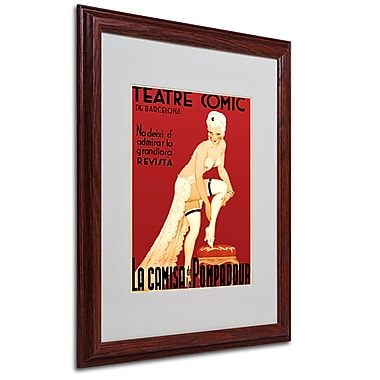 Teatre Comic de Barcelona' Framed Matted Art - 16x20 Inches - Wood Frame