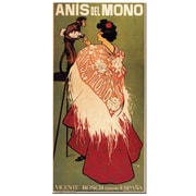 Trademark Fine Art 'Anis del Mono' Gallery Wrapped Canvas Art