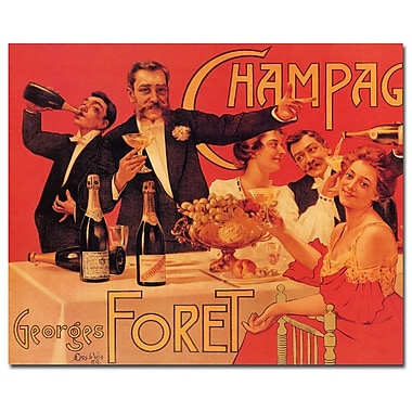 Trademark Fine Art Champagne Georges Foret Gallery Wrapped Art