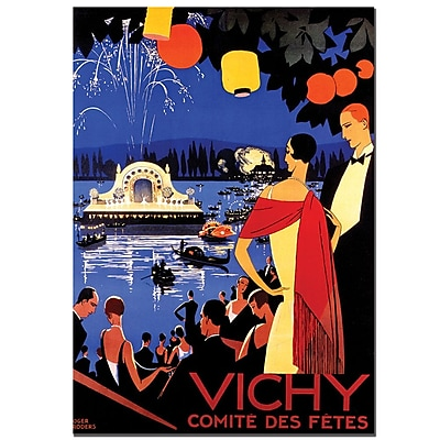 Trademark Fine Art Roger Broders 'Vichy Comite des Fetes' Canvas Art 35x47 Inches