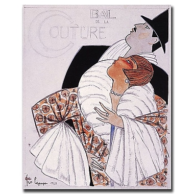 Trademark Fine Art Bal de la Couture by Georges Lepape-Gallery Wrapped