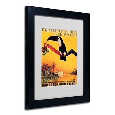 Trademark Fine Art Peter Fussey 'L'Amazone' Matted Art Black Frame 11x14 Inches