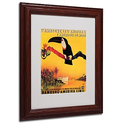 Peter Fussey 'L'Amazone' Framed Matted Art - 11x14 Inches - Wood Frame