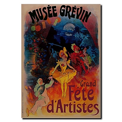 Trademark Fine Art Cheret-Musee Grevin-Grand Fete d'Artistes Canvas Art