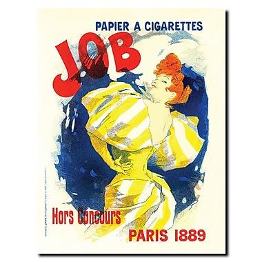 Trademark Fine Art Cheret-Papier a Cigarettes Job Gallery Wrapped Art