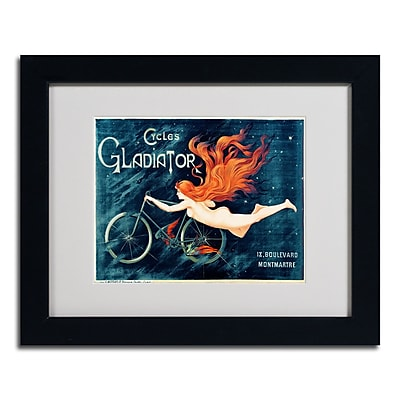 Trademark Fine Art Georges Massias 'Cycles Gladiator' Matted Art Black Frame 11x14 Inches