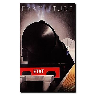 Trademark Fine Art Cassandre-Exactitude Etat Gallery Wrapped Canvas 14x19 Inches