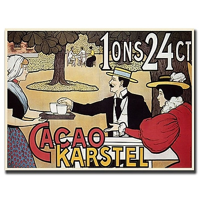 Trademark Fine Art Cacao Karstel-Gallery Wrapped 19x14 Canvas Art