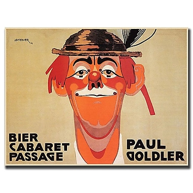 Trademark Fine Art Bier Cabaret Passage Paul Golder by J. Steiner-Canvas 19x14