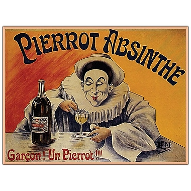 Trademark Fine Art Pierrot Absinthe Garcon! By L.E.M.-19x14 Canvas Art
