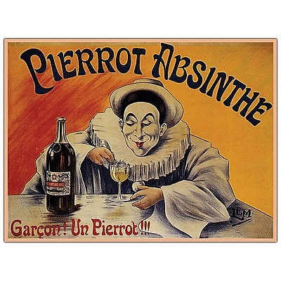 Trademark Fine Art Pierrot Absinthe Garcon! By L.E.M.-19x14 Canvas Art