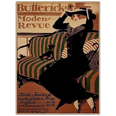 Trademark Fine Art Buttericks Moden Revue by Paul Scheurich- Canvas