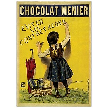 Trademark Fine Art Chocolate Menier by Boisset-Gallery Wrapped Canvas Art