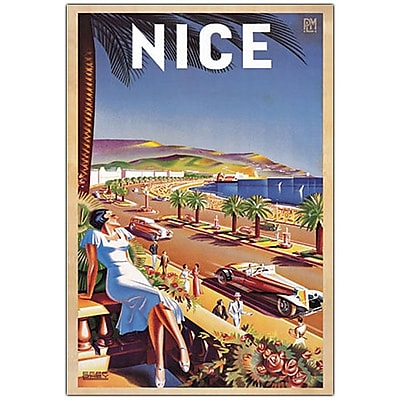 Trademark Fine Art Nice by Eff de Hey- Canvas Art