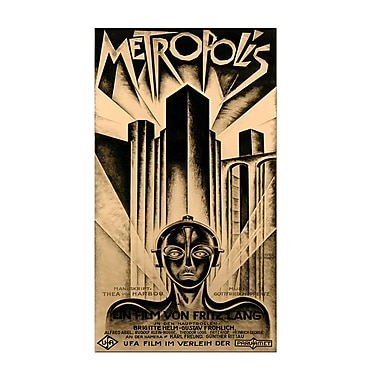Trademark Fine Art Schuluz Nendamm 'Metropolis' Canvas Art 12x24 Inches