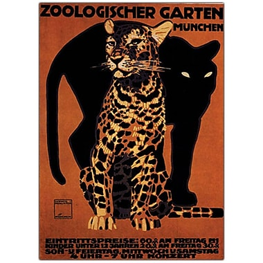 Trademark Fine Art Zoologischer Garten Munchin-Gallery Wrapped Canvas Art 24x32 Inches