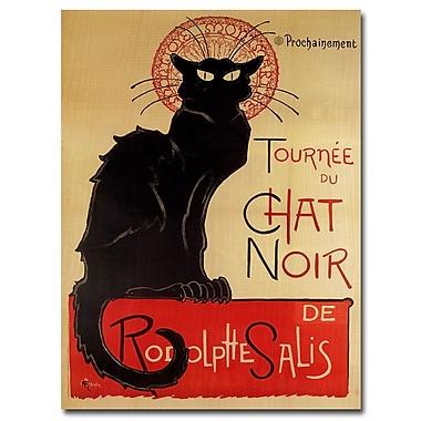 Trademark Fine Art Theophile A. Steinlen 'Tournee du Chat Noir' Canvas Art 14x19 Inches