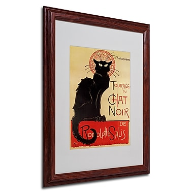 Theophile Steinlen 'Tournee du Chat Noir' Framed Matted Art - 16x20 Inches - Wood Frame