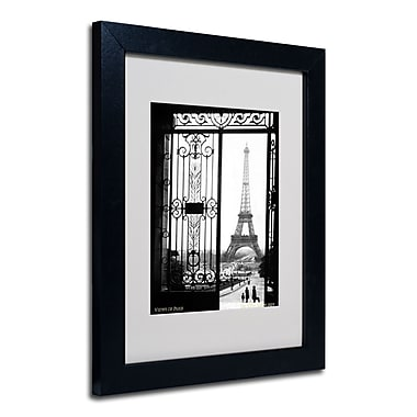 Trademark Fine Art Sally Gall 'Views of Paris' Matted Art Black Frame 11x14 Inches