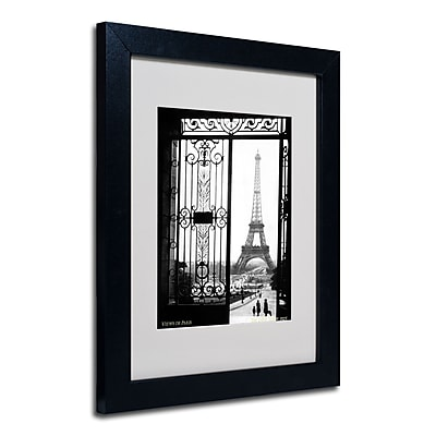 Trademark Fine Art Sally Gall 'Views of Paris' Matted Art Black Frame 11x14 Inches
