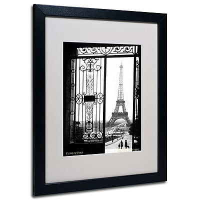 Trademark Fine Art Sally Gall 'Views of Paris' Matted Art Black Frame 16x20 Inches