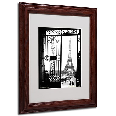 Sally Gall 'Views of Paris' Framed Matted Art - 11x14 Inches - Wood Frame