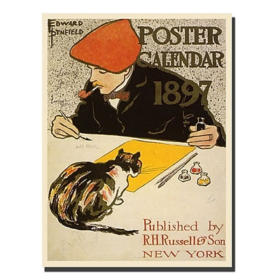 Trademark Fine Art Poster Calendar 1897 by Edward Penefield 24x47 Ready to Hang 24x47 Inches