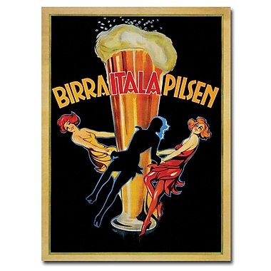 Trademark Fine Art Birra Italia Pilsen Canvas Art Ready to Hang