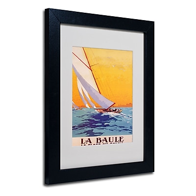 Trademark Fine Art Charles Allo 'La Baule' Matted Art Black Frame 11x14 Inches