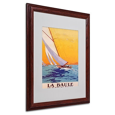 Charles Allo 'La Baule' Matted Framed Art - 16x20 Inches - Wood Frame