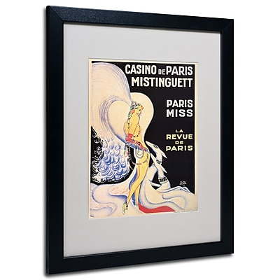 Trademark Fine Art Louis Gaudin 'Casino de Paris Mistinguett' Matted Art Black Frame 16x20 Inches