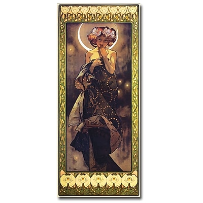 Trademark Fine Art The Moon by Alphonse Mucha-Ready to Hang Art