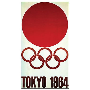 Trademark Fine Art 'Olympic Games Tokyo 1964' Canvas Art 10x19 Inches