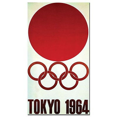 Trademark Fine Art 'Olympic Games Tokyo 1964' Canvas Art 18x32 Inches