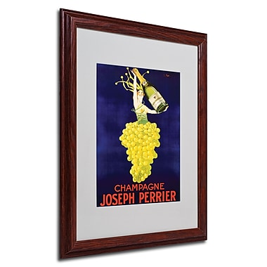 Champagne Joseph Perrier' Framed Matted Art - 16x20 Inches - Wood Frame
