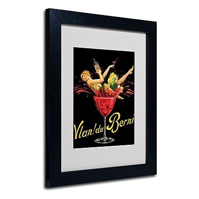 Trademark Fine Art 'Vlan du Berni' Matted Art Black Frame 11x14 Inches